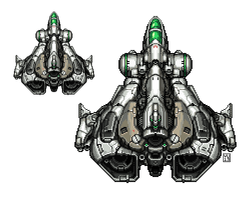 Pixel Spaceship by bossquibble