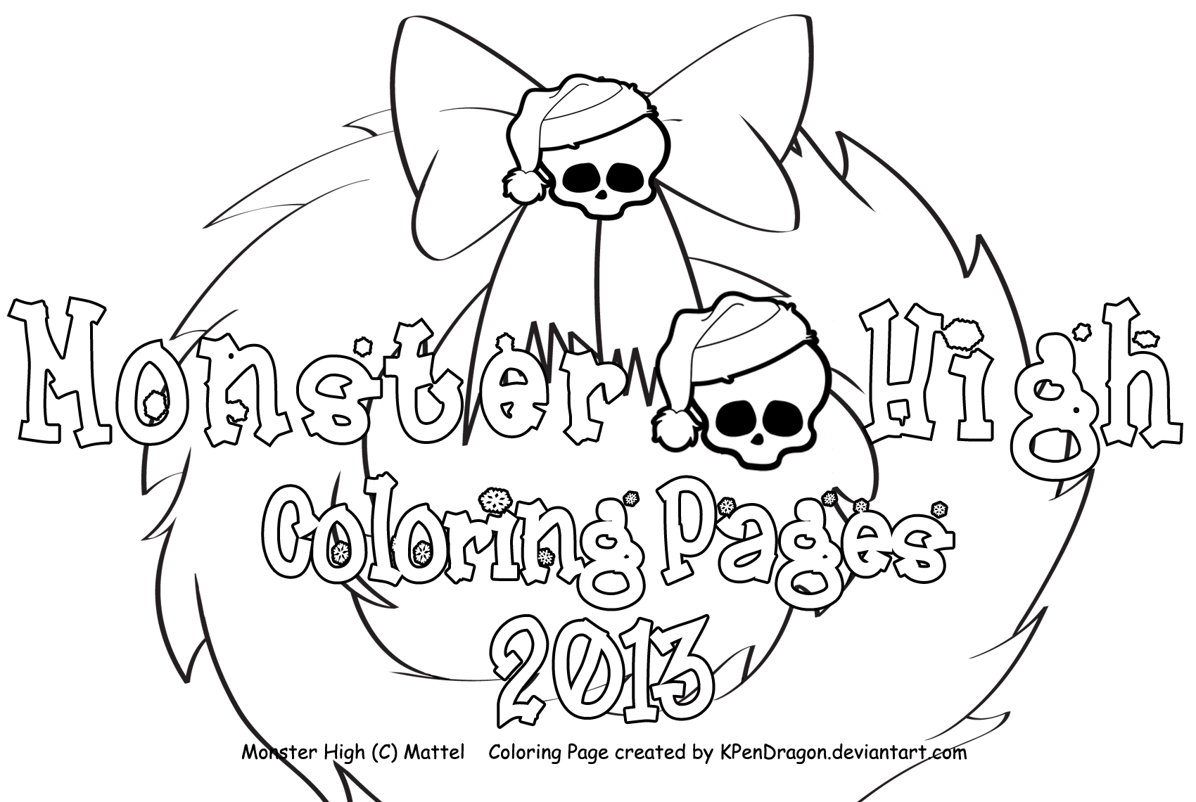 MH Holiday Coloring Pages 2013 by KPenDragon on DeviantArt