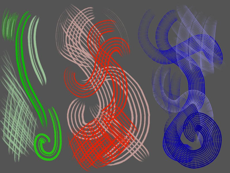GIMP Rake-tool brushes by Griatch-art