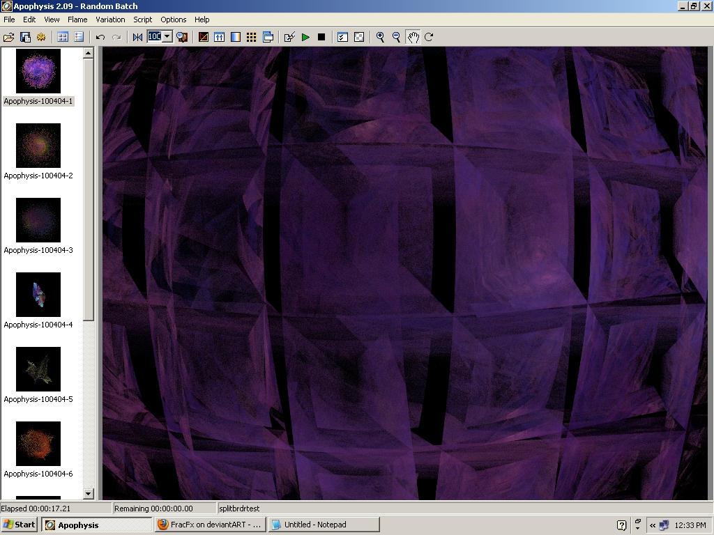 SplitBrdr Plugin For Apophysis by FracFx