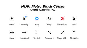 HDPI Metro Black Cursor