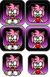 Many Amy Rose Avatars *Free to Use* by Forever-Amy-EXE