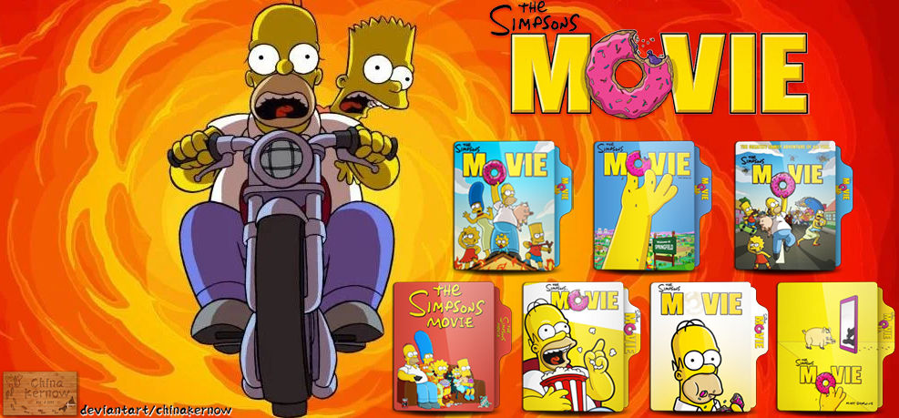 The Simpsons Movie 2007 Icon Pack By Chinakernow On Deviantart