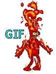 Bender on fire
