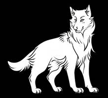 Free PNG, PSD and Sai Wolf Lineart by Roneri