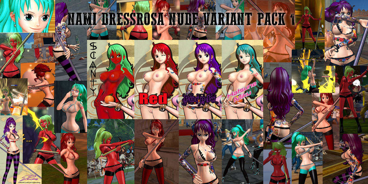 Mod-OPPW3-Nami Dressrosa nude variant pack by CraftedLightning