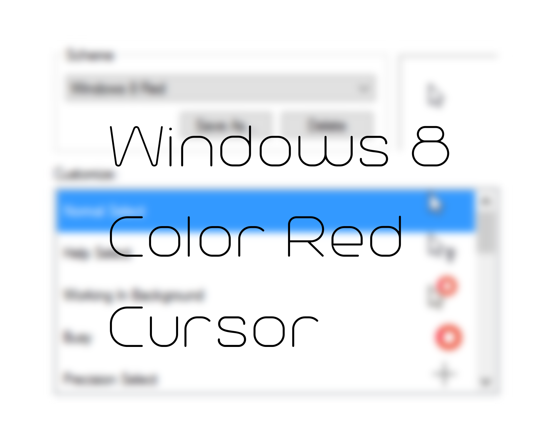 Change Mouse Pointer Color Red Windows – Fondos de Pantalla