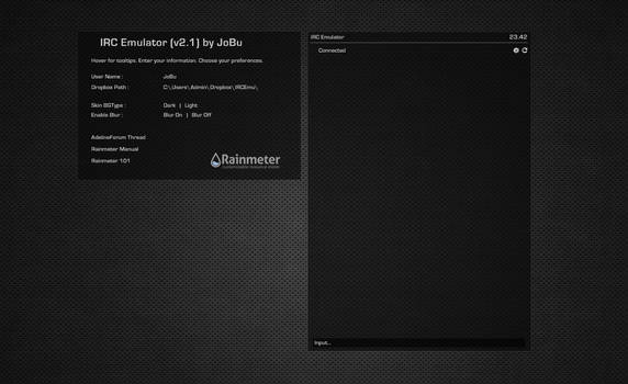 IRC Emulator (Adeline) ver2.1 for Rainmeter