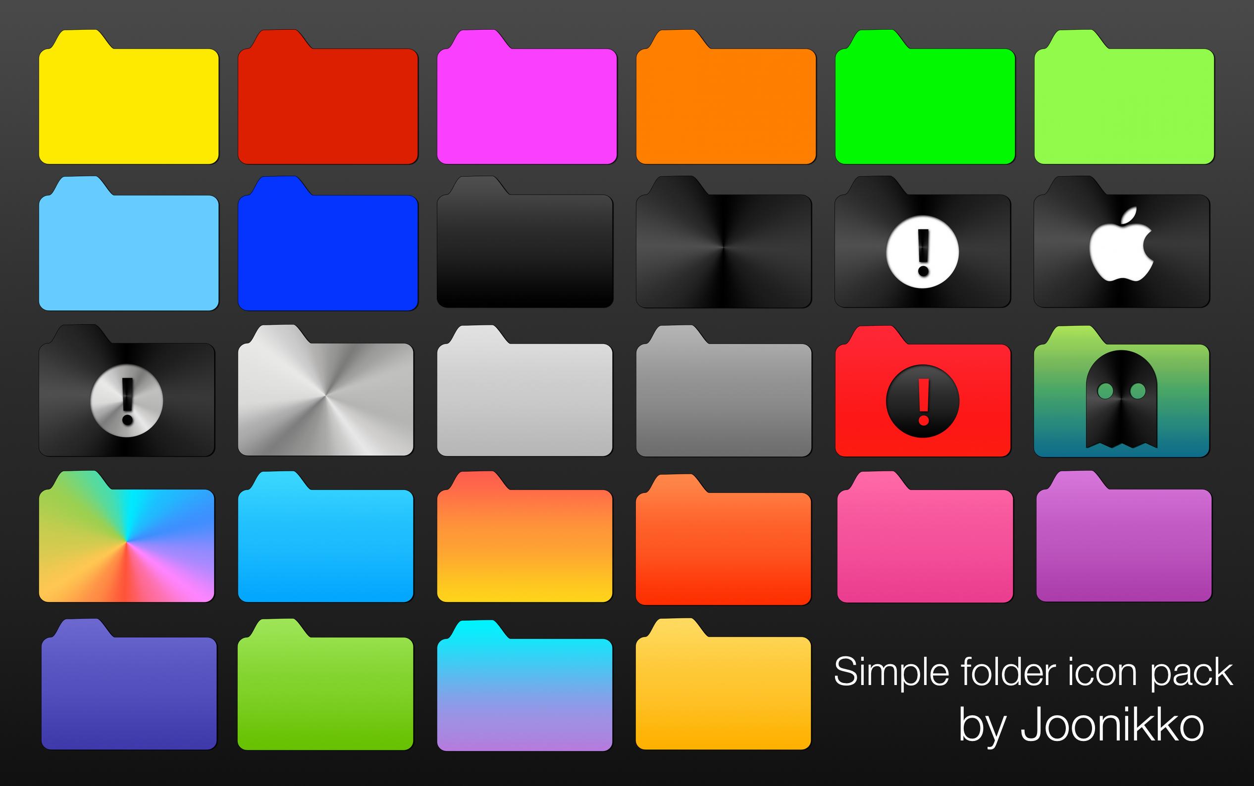 Simple folder icon pack by Joonikko on DeviantArt