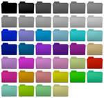 Colorful folder icons