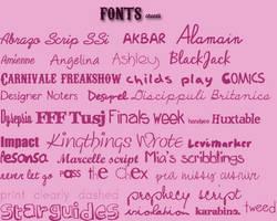 Fonts by ChantiiGG