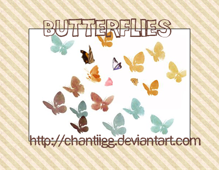 Brushes 2 - Butterflies by ChantiiGG