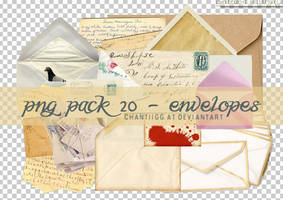 PNG PACK 20 - ENVELOPES by ChantiiGG