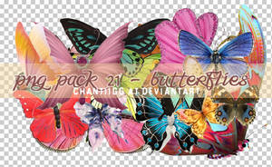 PNG PACK 21 - BUTTERFLIES