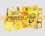 PNG PACK 23 - YELLOW