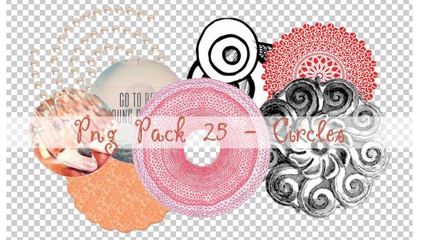 PNG PACK 25 - CIRCLES by ChantiiGG