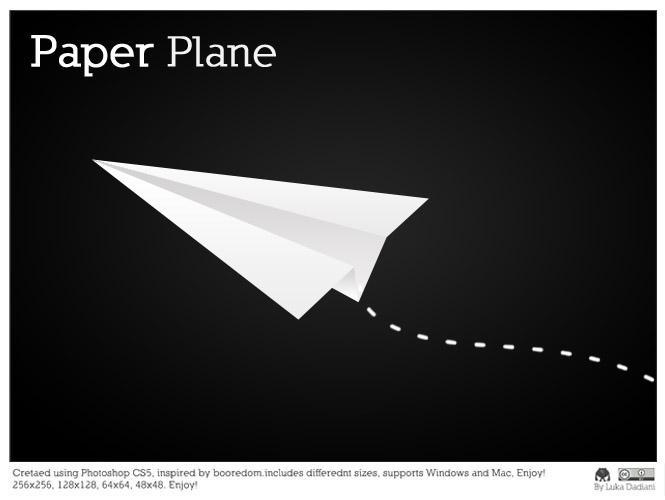 Paper Plane icon by lukataylo