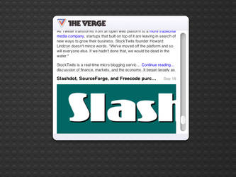 The Verge Dashboard widget