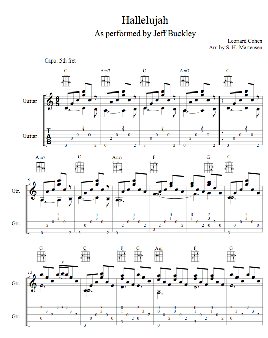 Hallelujah Guitar Chords No Capo Image Collections Chord Guitar