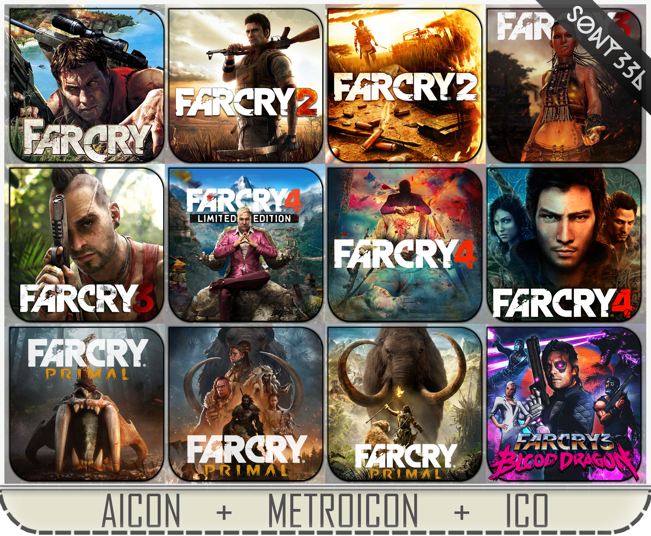Far Cry Icon Pack Png Ico By Sony33d On Deviantart