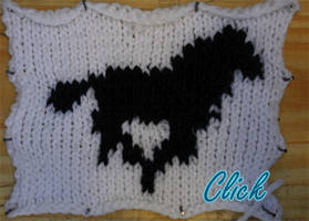 Knitted Animation - Horse by GRichmond