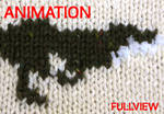 Knitted animation - Tweed Fox