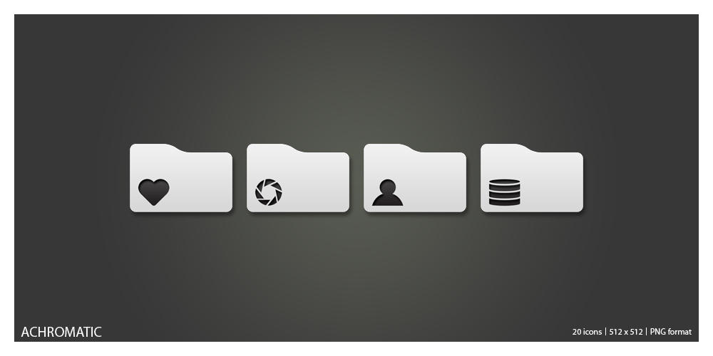 Achromatic Icons by JM--Designs