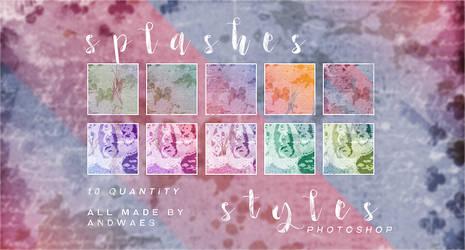 PHOTOSHOP STYLES - splashes