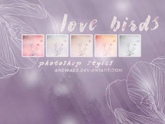 PHOTOSHOP STYLES - love birds