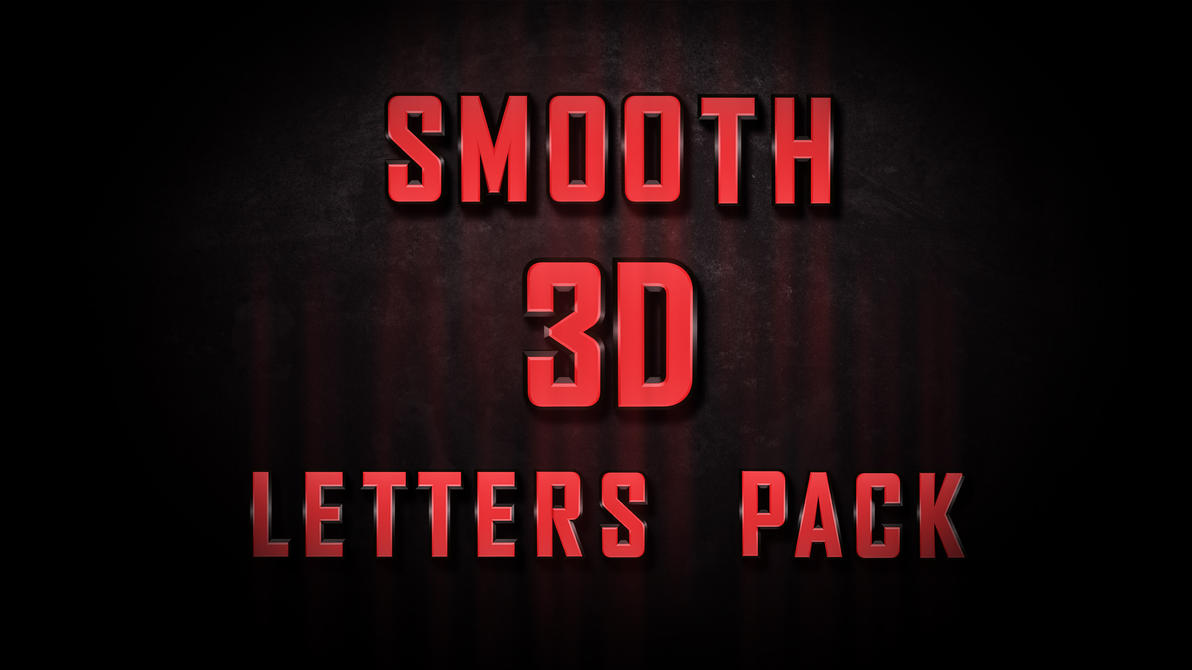 3D letter pack by Cristian79