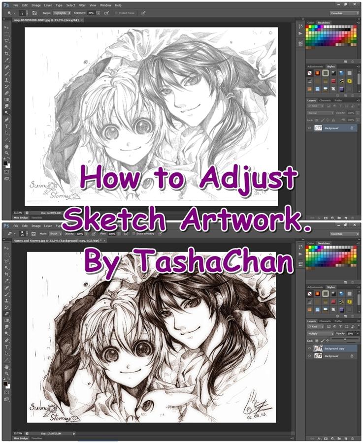 TutorTutorial - How to adjust Sketch Artwork by TashaChan