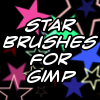 Star brushes for the GIMP 2 by nekomukuro