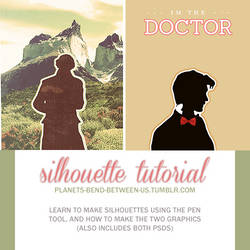 creating silhouettes with the pen tool + psds
