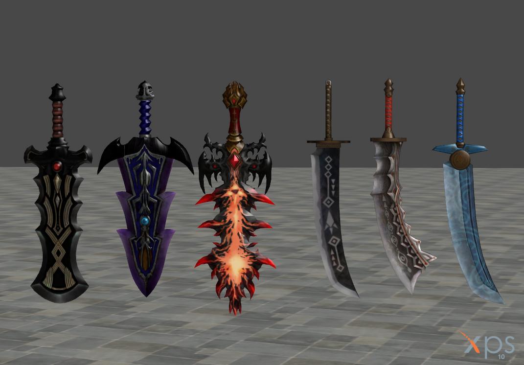 Hyrule Warriors Weapons Pack V2 by Debochira