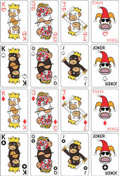 monkey cards by Innerversion