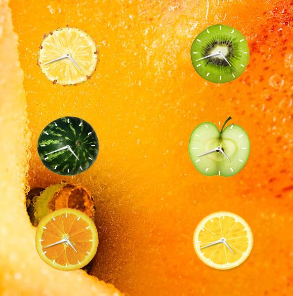 Fruity Clock Gadget