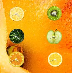 Fruity Clock Gadget by Minato999