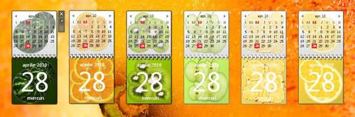 Fruity Calendar Gadgets by Minato999