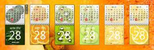 Fruity Calendar Gadgets