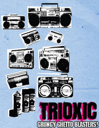 Vector Grungy Ghetto Blasters by trioxic