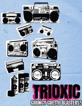 Vector Grungy Ghetto Blasters