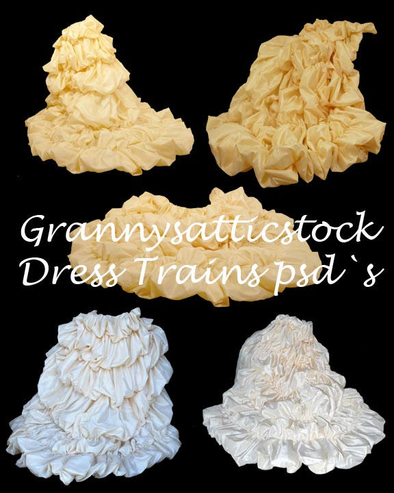 Dress Trains psd by GRANNYSATTICSTOCK