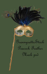 Peacock Feather Mask psd