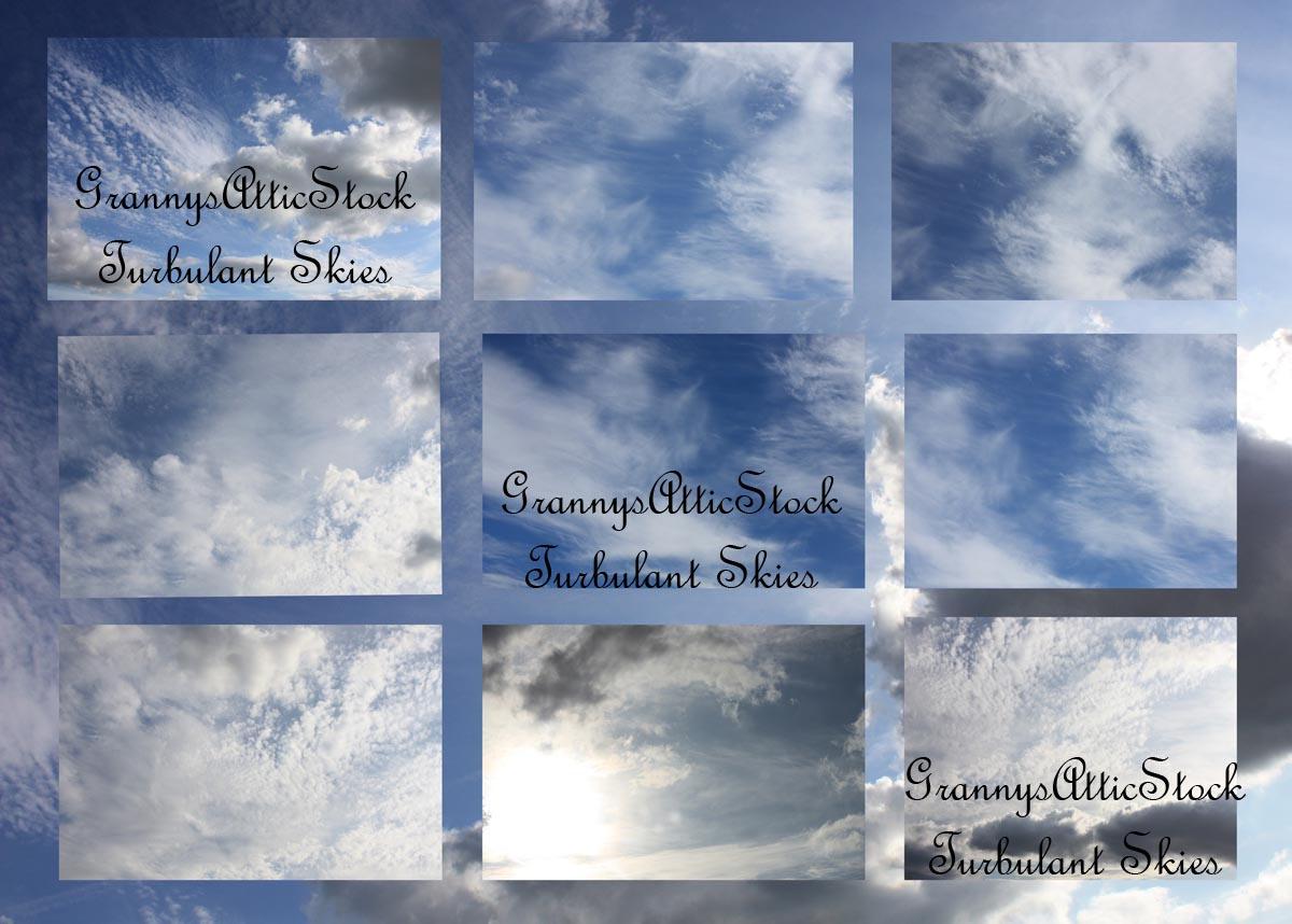 Turbulant Skies Pack by GRANNYSATTICSTOCK