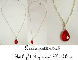 Twilight Papercut Necklace by GRANNYSATTICSTOCK