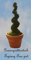 Twisted Topiary Tree psd