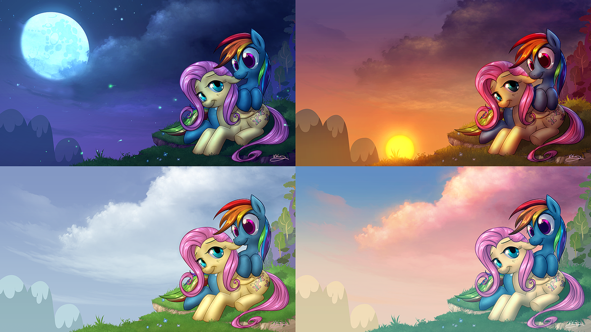 Flutterdash - Dusk to Dawn Wallpaper Pack by vest