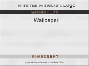 Minecraft Logo:  Minimal Wallpaper