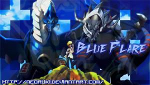 Digimon Xros Wars Blue Flare PSP theme by NeoRuki