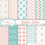 Free digital paper pack Dear Love Set